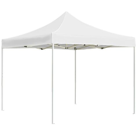 Professional Folding Party Tent Aluminium 2x2 m White - White
