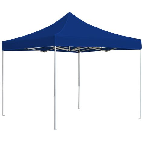 Professional Folding Party Tent Aluminium 3x3 m Blue