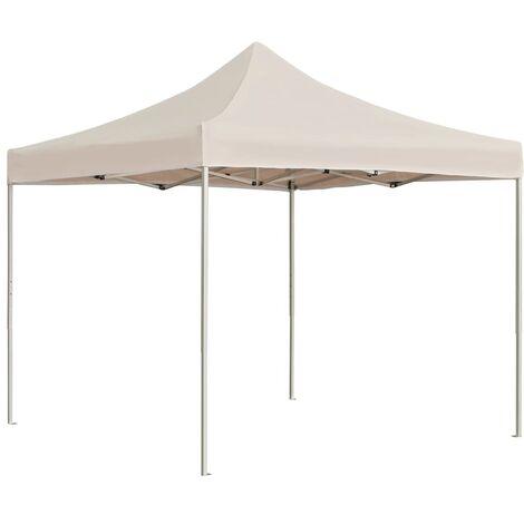 Professional Folding Party Tent Aluminium 3x3 m Cream