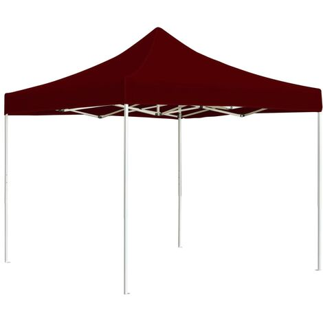 Professional Folding Party Tent Aluminium 3x3 m Wine Red