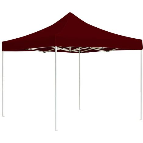 """main image of """"Professional Folding Party Tent Aluminium 3x3 m Wine Red - Red"""""""