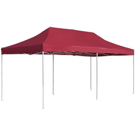 Professional Folding Party Tent Aluminium 6x3 m Wine Red