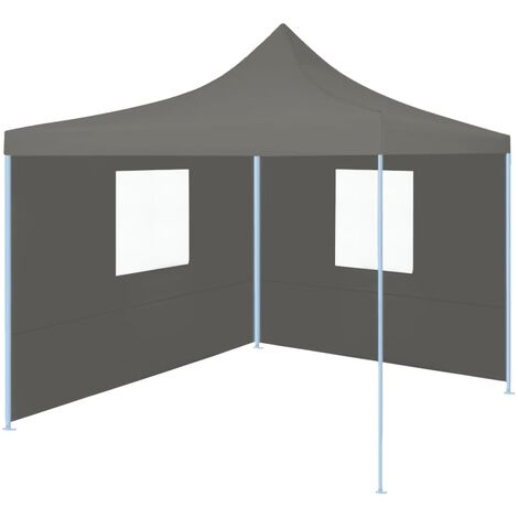 Professional Folding Party Tent with 2 Sidewalls 2x2 m Steel Anthracite - Anthracite