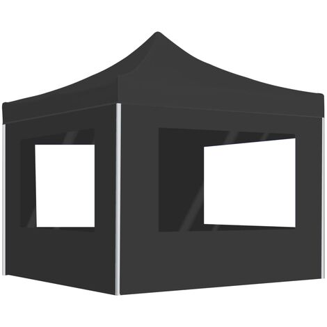 Professional Folding Party Tent with Walls Aluminium 3x3 m Anthracite
