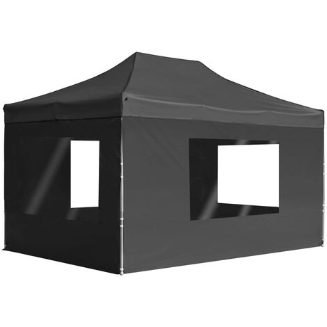Professional Folding Party Tent with Walls Aluminium 4.5x3 m Anthracite