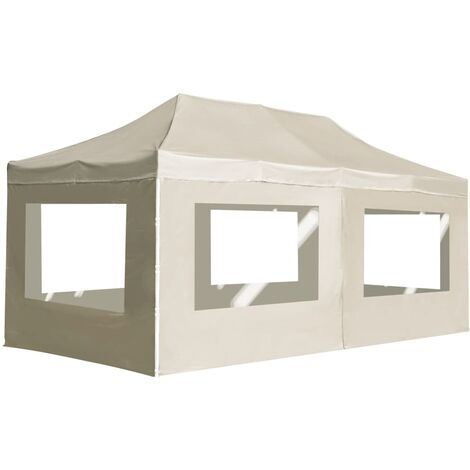 Professional Folding Party Tent with Walls Aluminium 6x3 m Cream