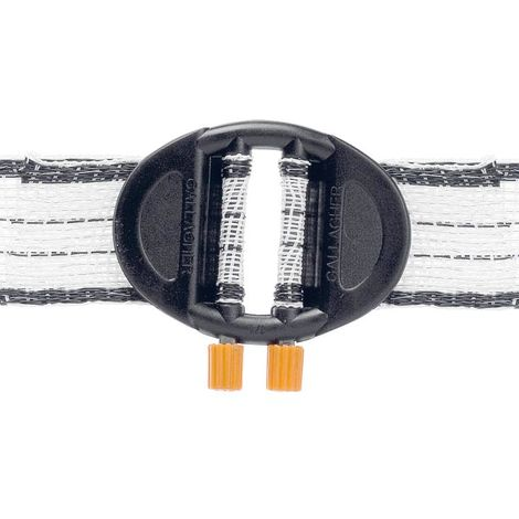 Professional Gallagher connector for 20/40 mm webbing in 5 piece package
