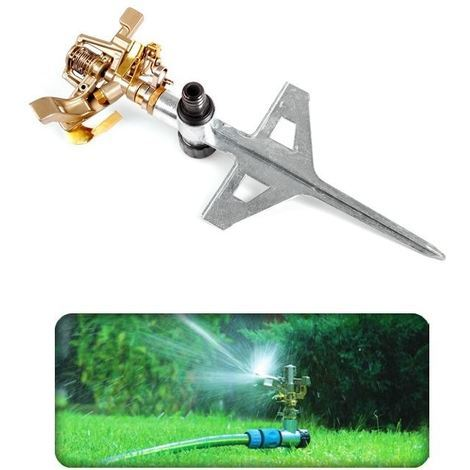 Professional Impulse Metal Spike Garden Sprinkler Hozelock Compatible Sprayer