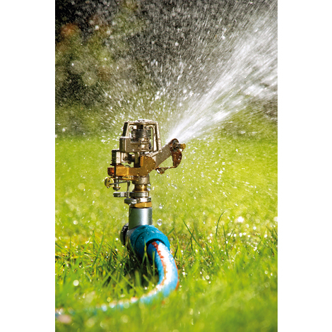 Professional Metal Impulse Garden Lawn Sprinkler with Water Sector Selection on Hardy Spike