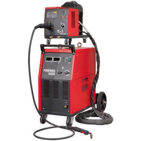 Professional MIG Welder 250Amp 415V 3ph with Binzel?? Euro Torch & Portable Wire Drive