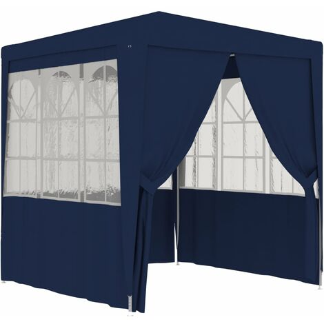 Professional Party Tent with Side Walls 2,5x2,5 m Blue 90 g/m²