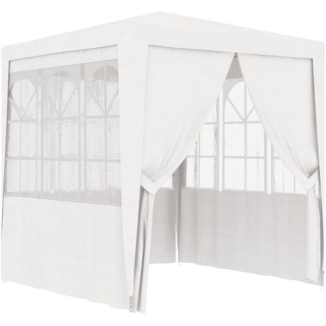 Professional Party Tent with Side Walls 2,5x2,5 m White 90 g/m - White
