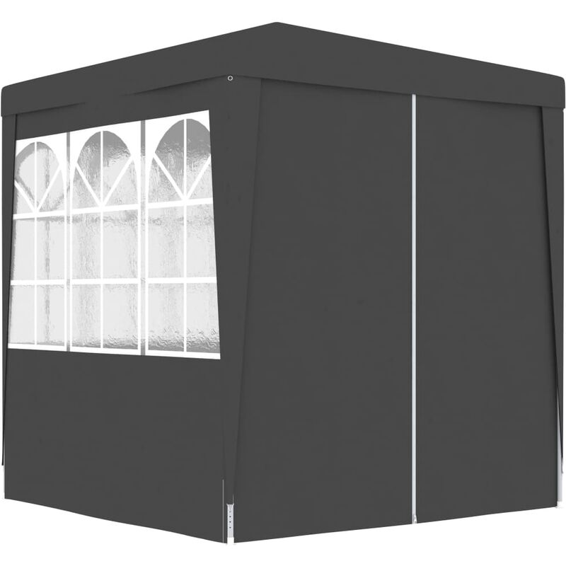 Professional Party Tent With Side Walls 2x2 M Anthracite