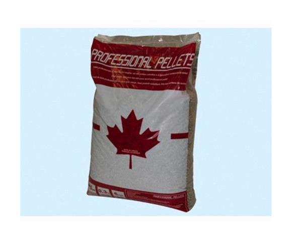 Professional Pellets in legno canadese in sacchetti da 15kg pallet 70 sacchi