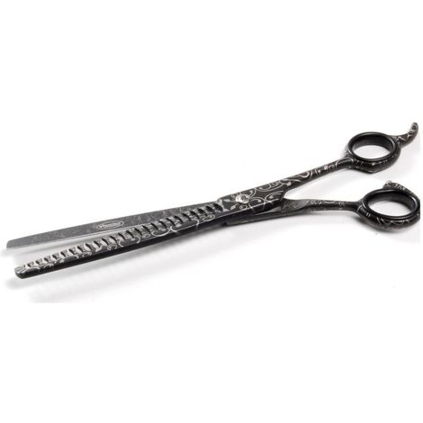 Professional Record BLACK LINE Blender scissors 19 cm - 20T for grooming dogs and cats