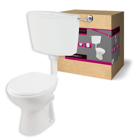 Professional Start Stand-WC | Abgang waagerecht | weiß