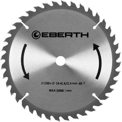 Professional TCT Circular Saw Blade for Wood Cuts (200 x 2,4 x 16 mm, 40 Teeth, blade thickness 1.6 mm, rpm max. 5000, long lifetime)