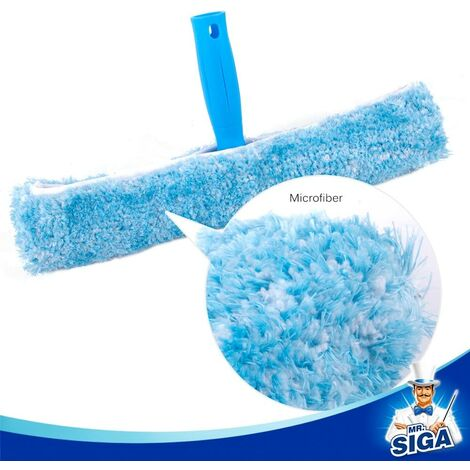 """main image of """"Professional Window Cleaning Combo - Squeegee & Microfiber Window Scrubber, 14"""""""""""