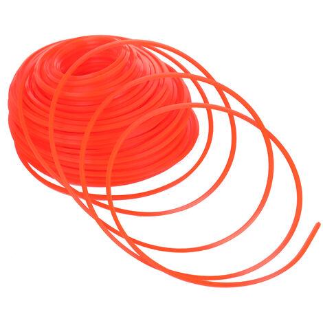 Professionnel Qualite Fine Corde En Nylon Tondeuse Debroussailleuse Tondeuse A Gazon Ligne Fauchage Fil Tondeuse Accessoires, 2.4Mm*95M, Rond