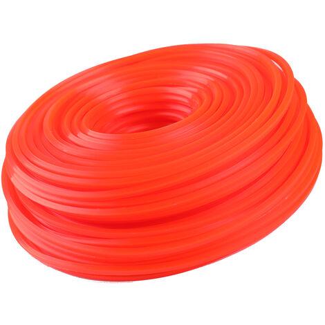 Professionnel Qualite Fine Corde En Nylon Tondeuse Debroussailleuse Tondeuse A Gazon Ligne Fauchage Fil Tondeuse Accessoires, 2.7Mm*80Mm, Rond