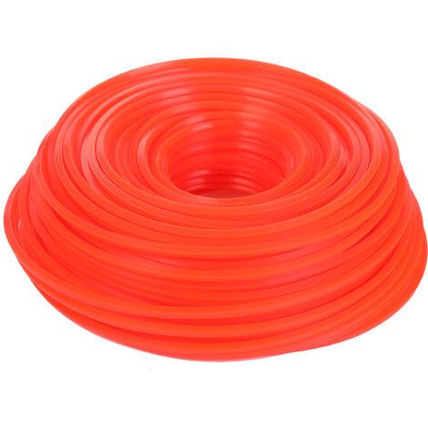 Professionnel Qualite Fine Corde En Nylon Tondeuse Debroussailleuse Tondeuse A Gazon Ligne Fauchage Fil Tondeuse Accessoires, 3.0Mm*70M, Carre
