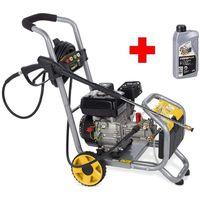 PROFI Benzin Hochdruckreiniger Benzinmotor 173 bar 4 Spezialdüsen mit Motor-Öl