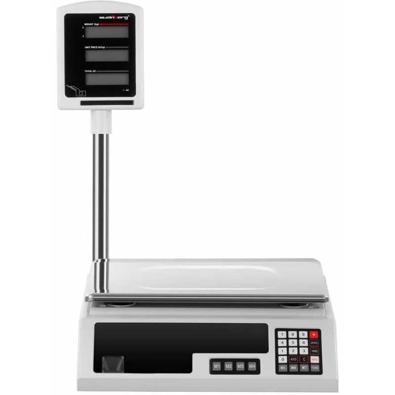 Profi Kontrollwaage Ladenwaage Preiswaage LCD 30 kg 1 g 34,1 x 24,1 cm