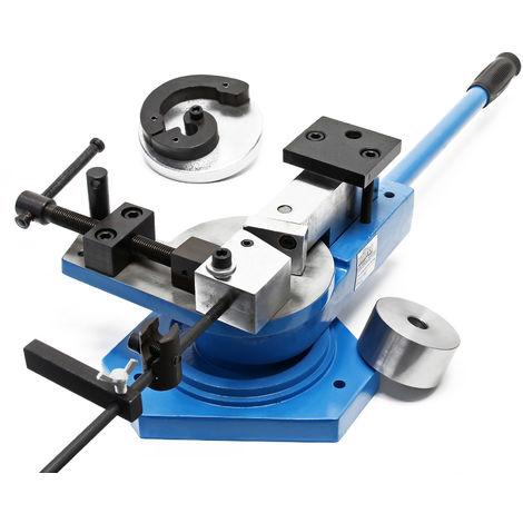 Profi sheet metal folder folding machine bending brake for flat round und square steel 360°