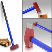 Profi Spalthammer Spaltaxt Fiberglas Holzspalter Holzspalthammer 3,8kg, Fiberglasstiel, 900mm lang