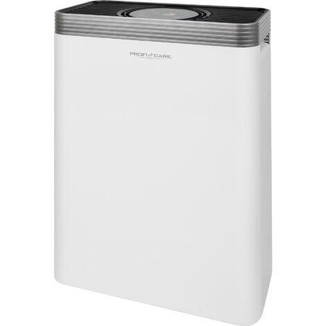Proficare Purificador Aire Iónico, Filtro HEPA, Sensor APD, Sistema 4 Filtros, 3 Niveles Potencia, Mando a Distancia 45W Blanco