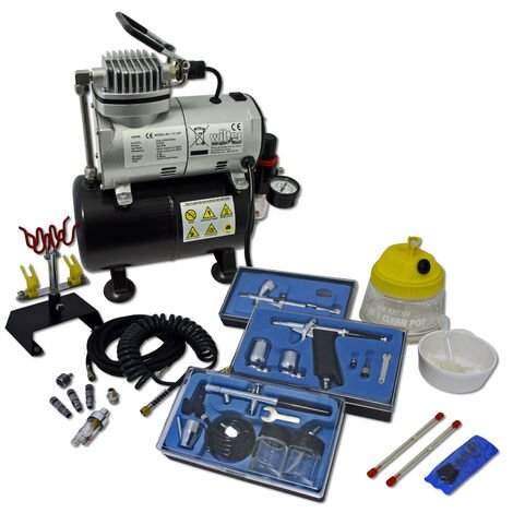 Profiessional Airbrush Compressor Set with 3 Guns AS186