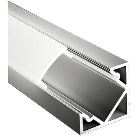 Profil aluminium en angle 2 mètres anodisé pour rubans LED