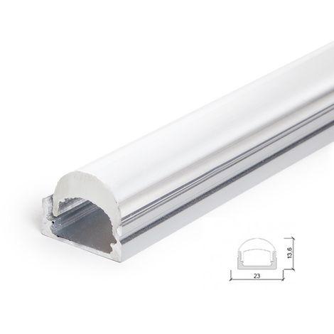 Profil Aluminium Pour Bande Led Diffuseur Transparent LLE-ALP001-RL x 2M (LLE-ALP001-RL)
