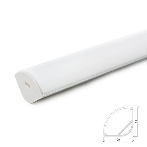 Profil Aluminium Pour Bande Led Diffuseur Transparent x 2M (LLE-ALP016R)