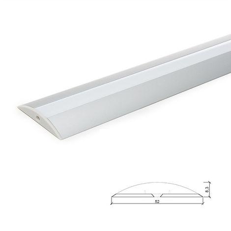 Profil Aluminium Pour Bande Led DiffuseurLaiteux LLE-ALP021 x 2M (LLE-ALP021)
