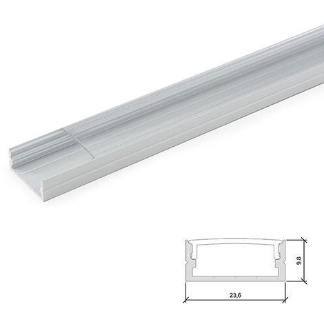 Profil Aluminium Pour Bande Led Double - Diffuseur Transparent x 2M (LLE-ALP014-T)