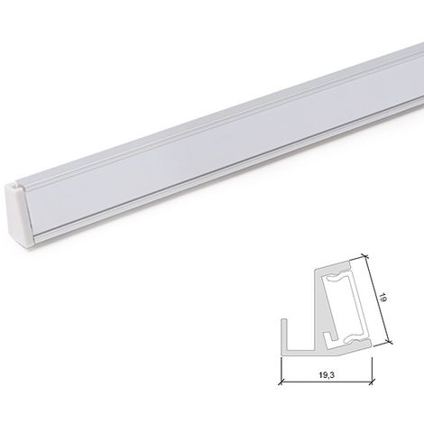 Profil Aluminium Pour Bande Led ÉtagèresVerre 6Mm x 1M (SU-G001)
