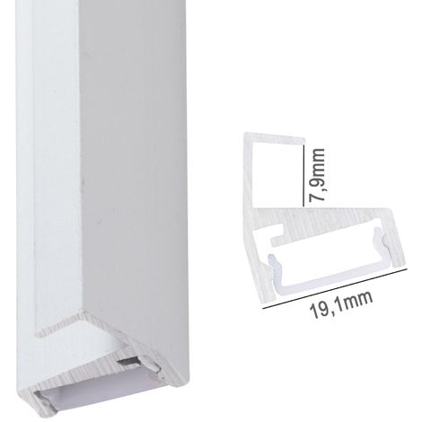 Profil Aluminium Pour Bande Led ÉtagèresVerre 8Mm x 2M (SU-G002)