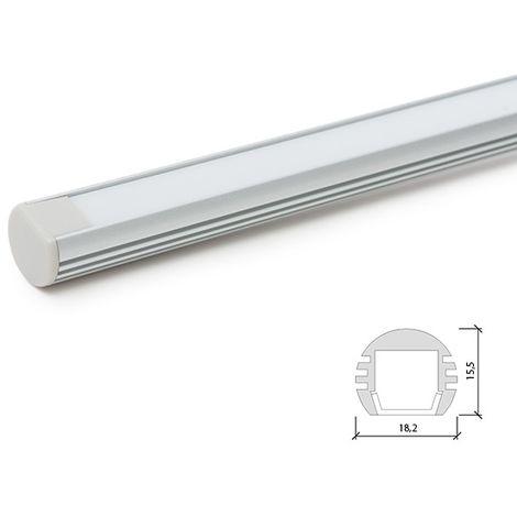 Profil Aluminium Pour Bande Led Pendaison - DiffuseurLaiteux SU-A1818 x 2M (SU-A1818)