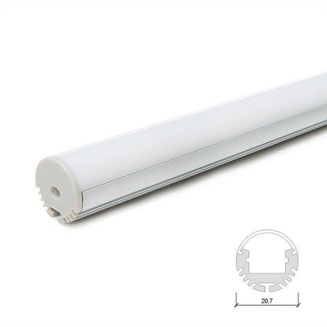 Profil Aluminium Pour Bande Led Pendaison - DiffuseurLaiteux SU-R002 x 2M (SU-R002)