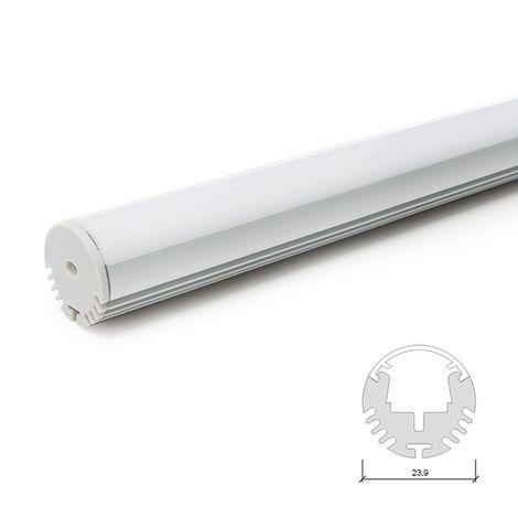 Profil Aluminium Pour Bande LedBar/Cabinet - DiffuseurLaiteux x 2M (SU-R001)