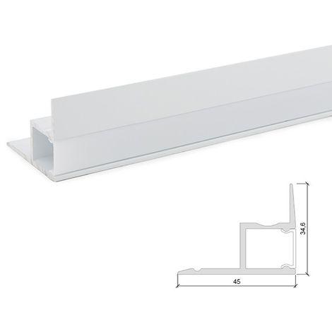 Profil Aluminium Pour Bande LedBlancLaiteux x 1M (SU-A4535-W)
