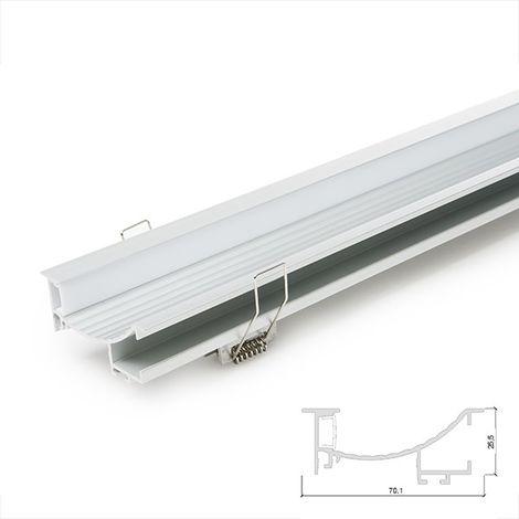 Profil Aluminium Pour Bande LedPour Escaliers - DiffuseurLaiteux -Bande de Led x 1M (SU-W003)