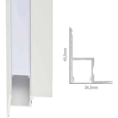 Profil Aluminium Pour Bande LedPour Plafonds DiffuseurLaiteux x 1M (SU-A4535)