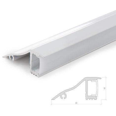 Profil Aluminium Pour Bande LedPourDes Murs - DiffuseurLaiteux -Bande x 1M (SU-W001)