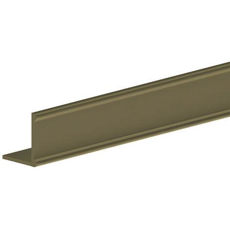 Profil bas en L 18x16.5 mm - L = 3000 mm - doré