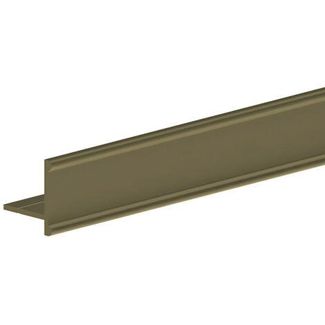 Profil bas en T - L = 1800 mm - doré