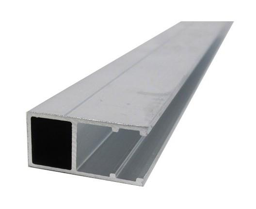 Profil bordure monobloc (en U) - toiture polycarbonate - Coloris - Aluminium, Epaisseur - 16 mm ...