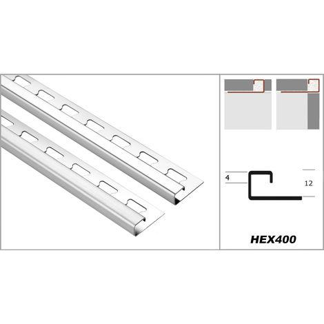 Profil carré 12mm   rails de carrelage en acier inoxydable - nombreux modèles   EQ economy pack