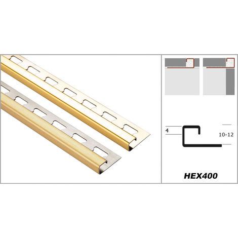 Profil carré de 10 mm   rails pour tuiles en acier inoxydable - nombreux modèles   pack économique EQ